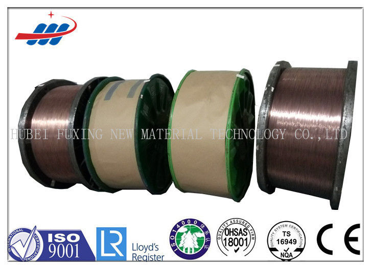 High Carbon Copper Coated Steel Wire For Brush / Rubber Tube , 0.78-1.65 Wire Gauge