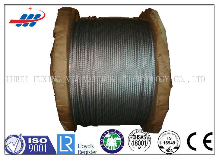 6*7+FC High Carbon Galvanized Wire Rope 1570-1770MPA Tensile Strength